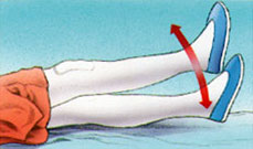 Rehabilitar prótesis rodilla - Levantar pierna