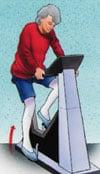 Rehabilitar prótesis rodilla - Bicicleta