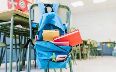¿Cuánto tienen que pesar las mochilas escolares de los niños?